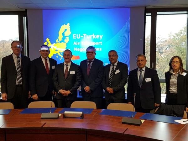 Genel Müdürümüz Sayın Erdem DİREKLER Brüksel'de 3 gün sürecek olan Türkiye AB Arasında Kapsamlı Hava Taşımacılığı Anlaşması Müzakerelerine katılım sağladı.
