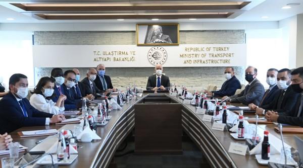 """Sayın Bakanımız Adil KARAİSMAİLOĞLU,  Fransa """"MEDEF International"""" heyetini kabul etti"""