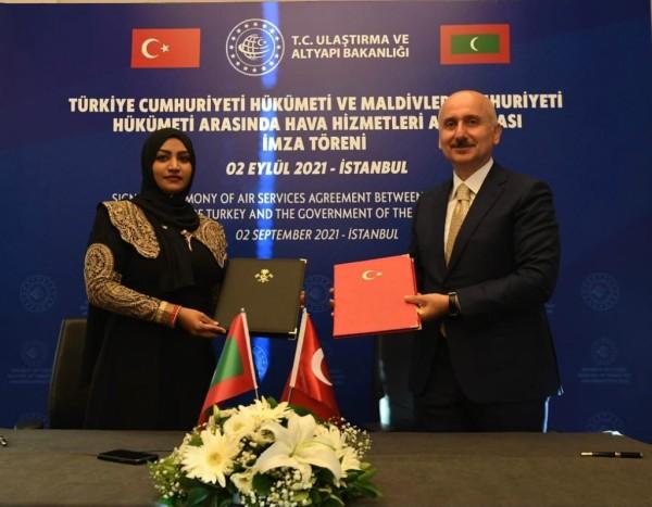Türkiye ile Maldivler arasında Hava Ulaştırma Anlaşması imzalandı